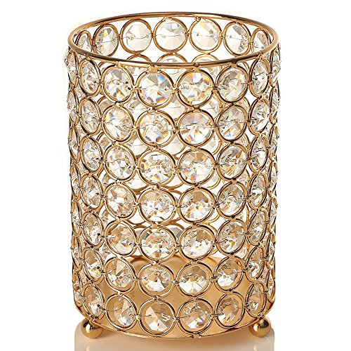 gold crystal candlesticks decorative votive