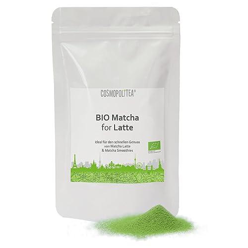 cosmopoliTEA® - Matcha for Latte, BIO - Ideal für den schnellen Genuß von Matcha-Latte oder Matcha Smoothies