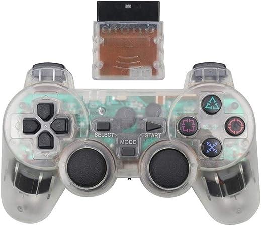NO LOGO Mando inalámbrico Joy Pad for PS2 Consola de Juegos Bluetooth Mando Jogos Manette Controle Joystick Gamepad for Sony Playstation 2 (Color : White): Amazon.es: Hogar
