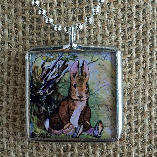 Peter Rabbit Beatrix Potter Vintage Art Soldered Glass Pendant Charm Necklace (Nursery Rhyme Costumes Ideas)
