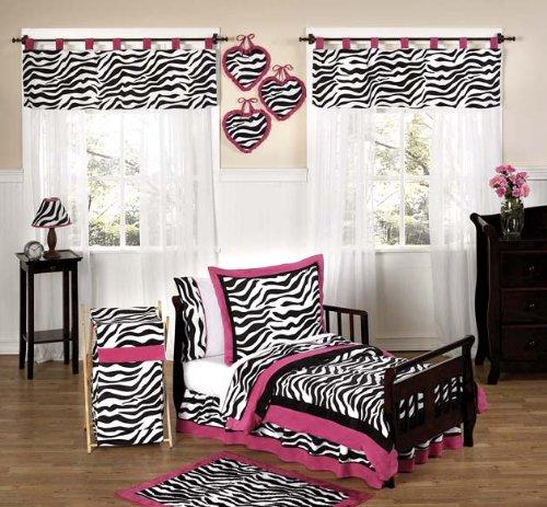 Funky Zebra Toddler Bed Skirt