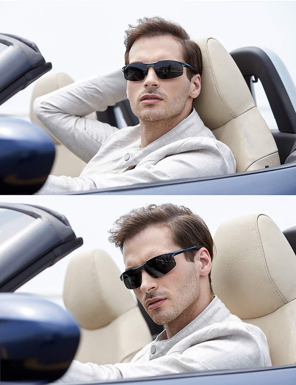 130fec82ac0 MOORAY Mens Sports Polarized Sunglasses UV Protection Fashion Sunglasses  for Men Fishing Driving(Black