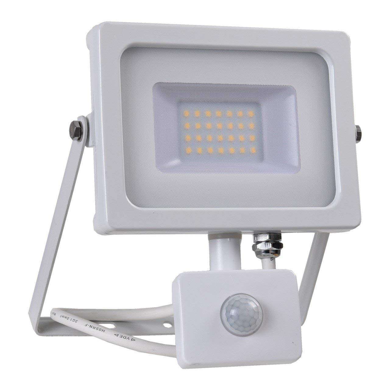 Egutec LED Proyector con Detector de Movimiento, Blanco, 20W, IP65 ...