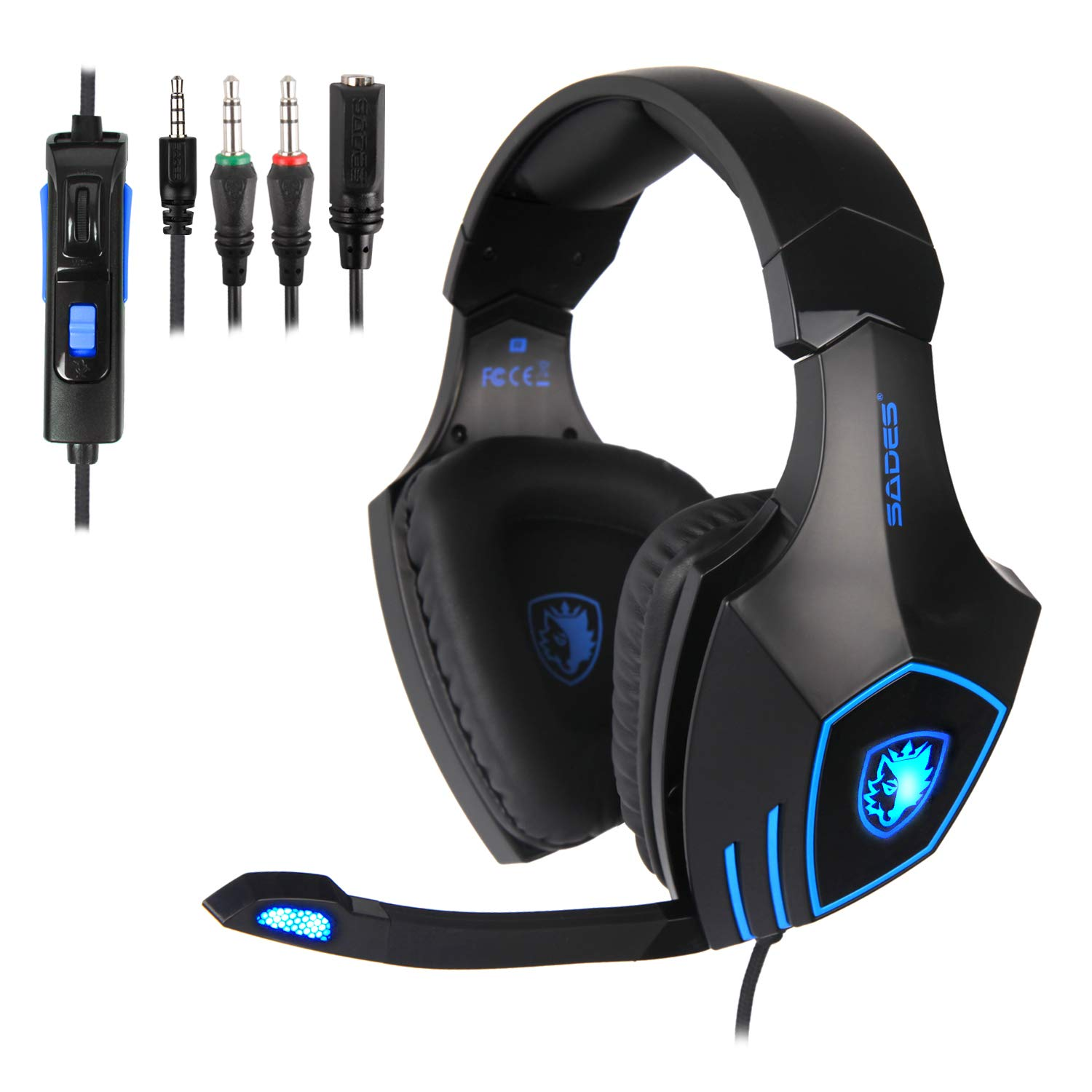 SADES Gaming Headset for New Xbox One, PS4, PC, Noise Reduction Game Earphone