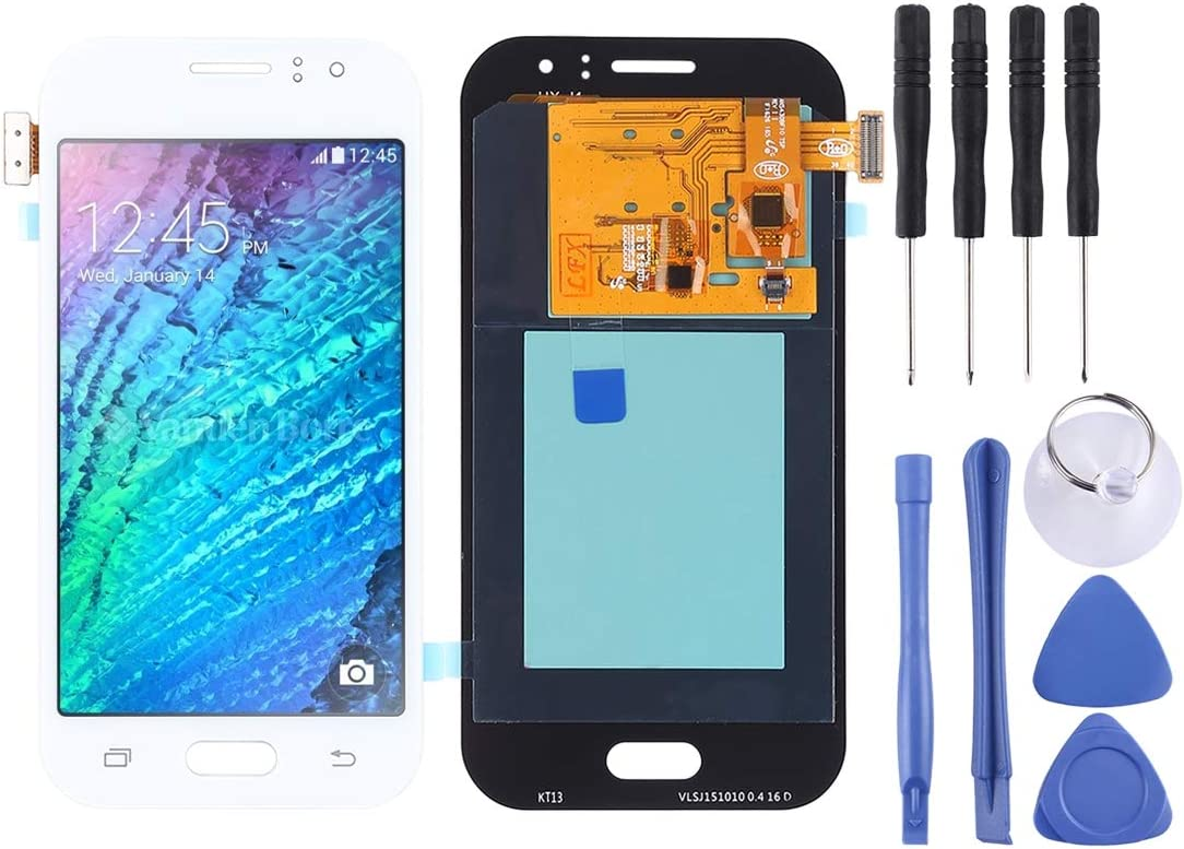 LCD Screen and Digitizer Full Assembly J110G Color : White J110L Replacement Part J110F J110 TFT Material Gold Premium Quality for Galaxy J1 Ace J110M