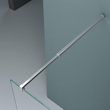 Paroi de douche /à litalienne 70cm avec bande opaque pare-douche Sogood Bremen2MS 70x200 verre de s/écurit/é 10mm stabilisateur carr/é