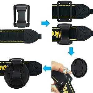 SIOTI 49mm Lens Cap with 2pieces Caps + Cap Clip + Cleaning Wiper for Nikon/Canon/Sony/Fuji/Leica/Tamron/Pentax/Panasonic/Olympus etc.Camera Lens (Color: 1 Single, Tamaño: 49mm)