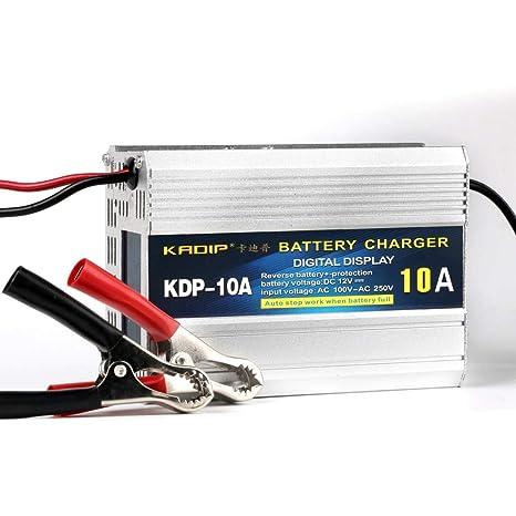 Cargador De Batería Inteligente, 12V10A Auto Cargador De ...