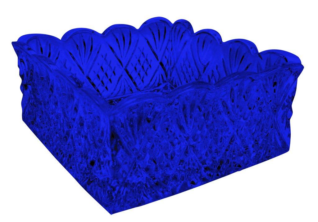Godingerクリスタルダブリンナプキンホルダーwell-lovedパターン余分Vibrant Colors Available by TableTop King ブルー GDNHWLPLC - Cobalt Blue  コバルトブルー B00YCN4MO6