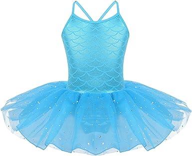 iiniim Disfraz Bailarina de Ballet Niña Maillot Ballet con Tutu ...