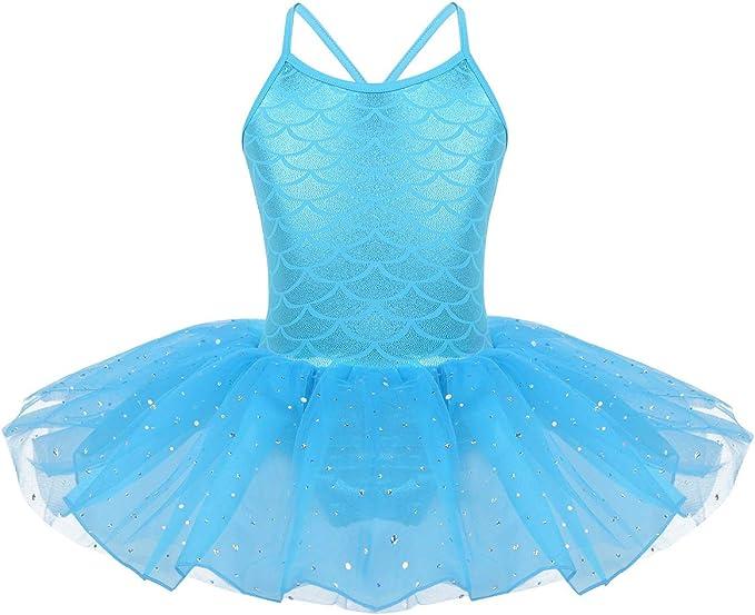 Agoky Vestido de Danza Clásica Lentejuelas para Niña Maillot ...