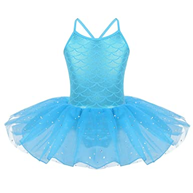iiniim Disfraz Bailarina de Ballet Niña Maillot Ballet con ...