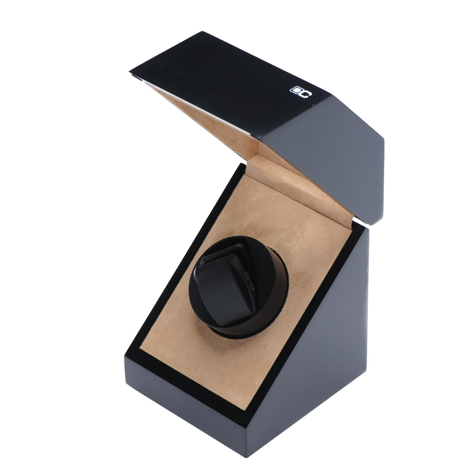 KAIHE-BOX Classic Watch Winders for 1 Watches for automatic Watch Winder Rotator Case Cover Storage(2 color,ww-02131) , # 2 by KAIHE-BOX (Image #1)