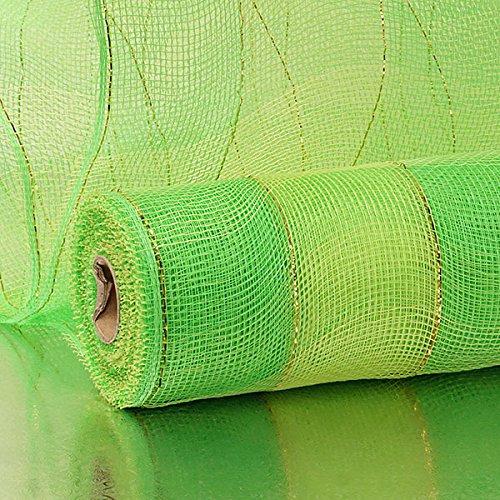21 X10 Yards Lime//Green 2-Clrd Wide Stripe Deco Mesh