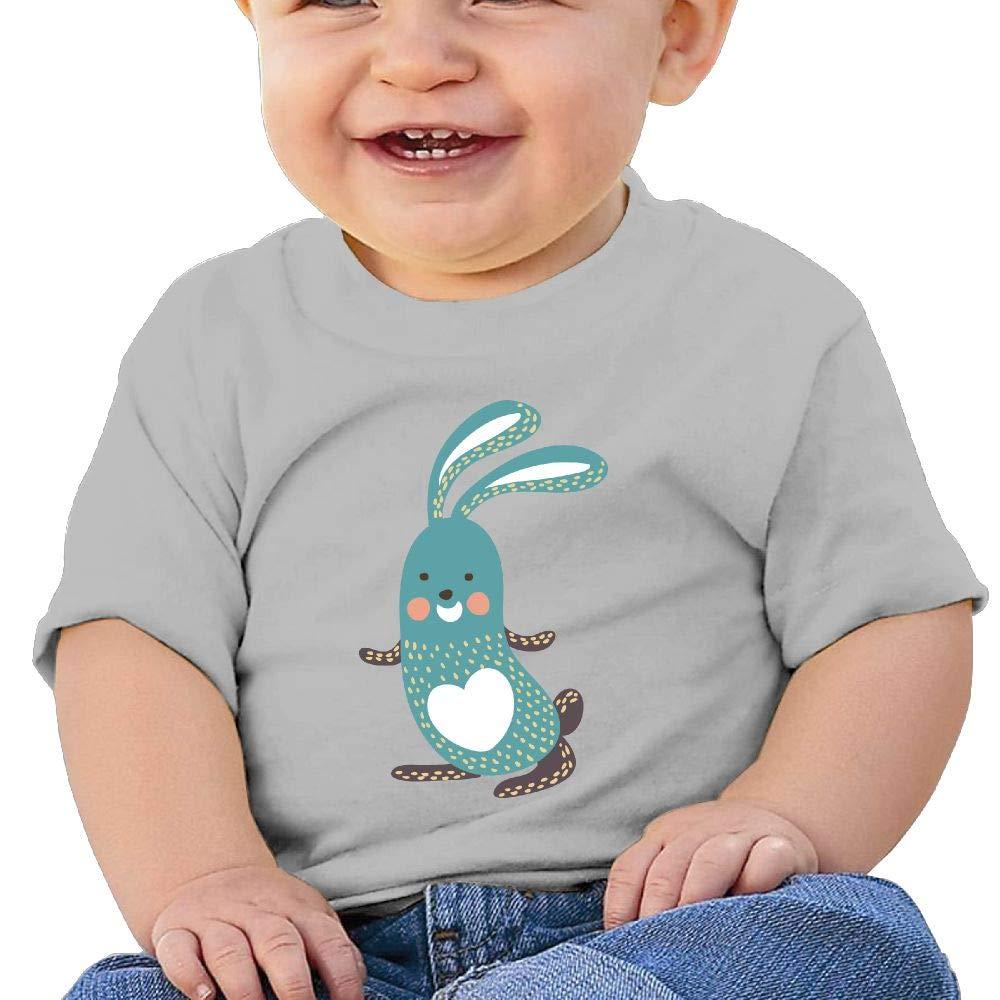 AiguanCartoon Rabbit Toddler//Infant Short Sleeve Cotton T Shirts Gray