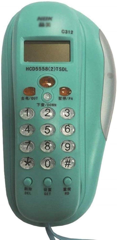 1375381 Teléfono/Teléfono montado en la Pared/Teléfono Fijo/Home Office Hotel Pequeño Extensión/identificador de Llamadas (Color : Blue, Size : One Size)