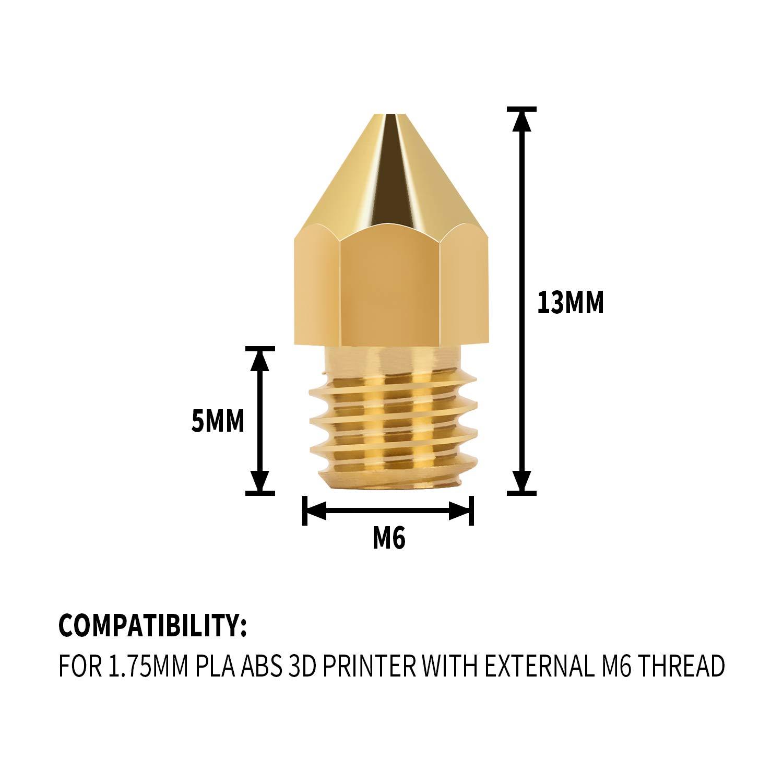 0.4 mm 1 mm con caja de almacenamiento gratuita para Makerbot Creality CR-10 Ender 3 5 LUTER 24PCS MK8 Extrusor Impresora 3D Boquilla Nozzle 0.2 mm 0.3 mm 0.8 mm 0.5 mm 0.6 mm