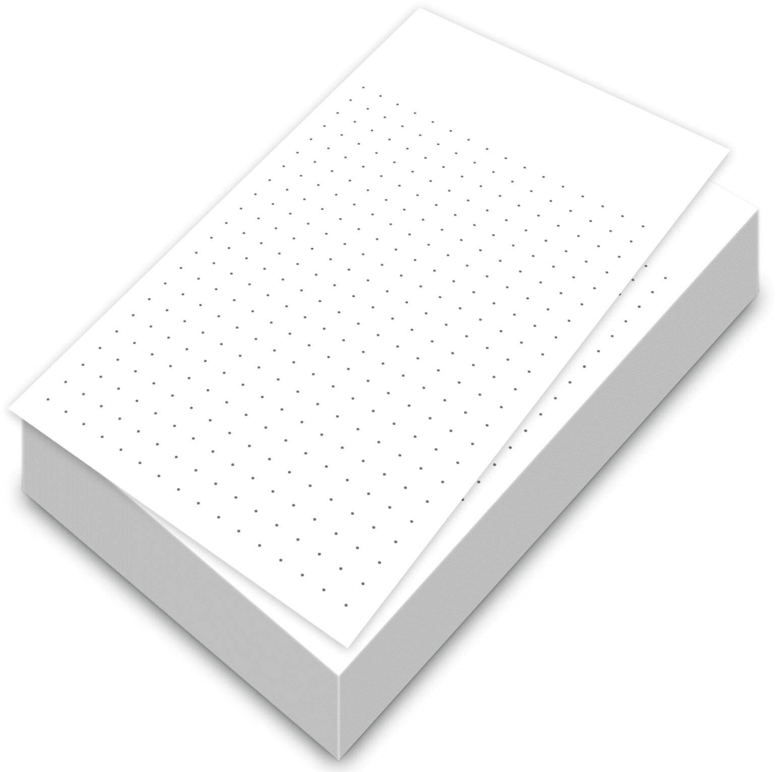White Dot Grid Vertical Index Cards, 3'' X 5'' Inches | 300 Sheets Per Pack