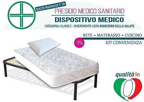 InMaterassi KitDolceSonnoLight, materasso singolo, rete ortopedica e ...