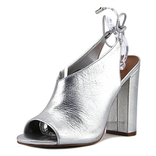 1a3338e04c0 Steve Madden Saffron Women US 6.5 Silver Slingback Heel
