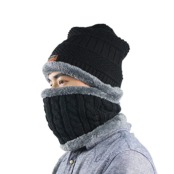 f97fee9f2de Image Unavailable. Image not available for. Colour  HmSpot Beanie Hat Scarf  Set ...