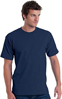 product image for Bayside Men's American Pride Crewneck T-Shirt, BAYSIDE NAVY, Large