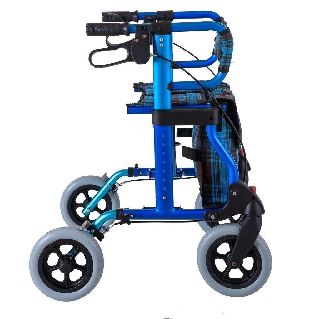 Rollator Walker Vive, Rolling Walker with Seat Adjustable Handle Height Lockable Brake Auxiliary Walking Safety Walker by YL WALKER (Image #4)