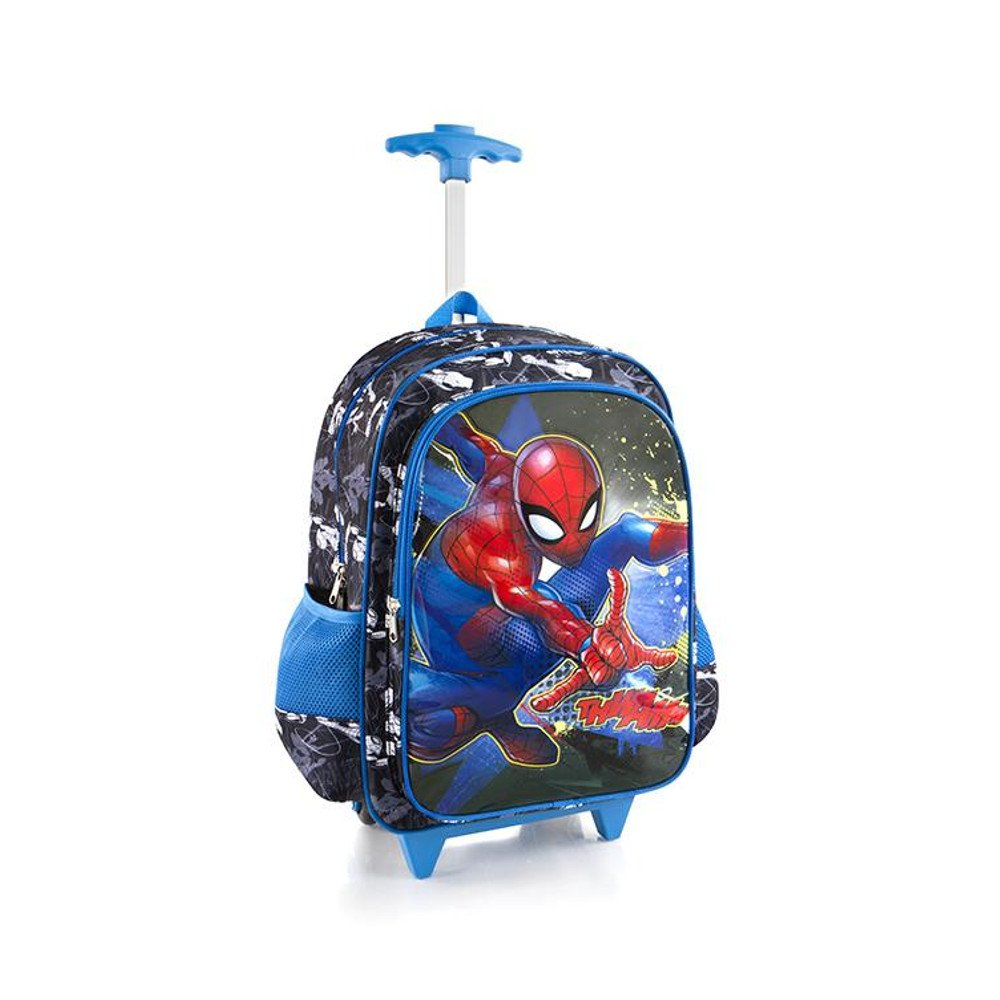 Marvel Spideman Core Rolling Backpack for Kids - 18 Inch School Bag with Shoulder Strap Heys