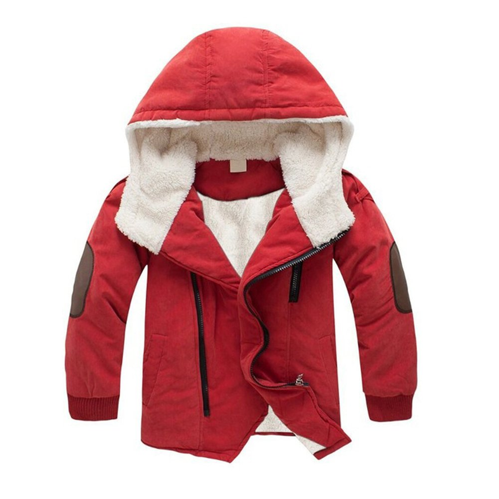 CHANGXIN Kids Warm Lambswool Jacket Casual Hooded Winter Coats for Boys/Girls