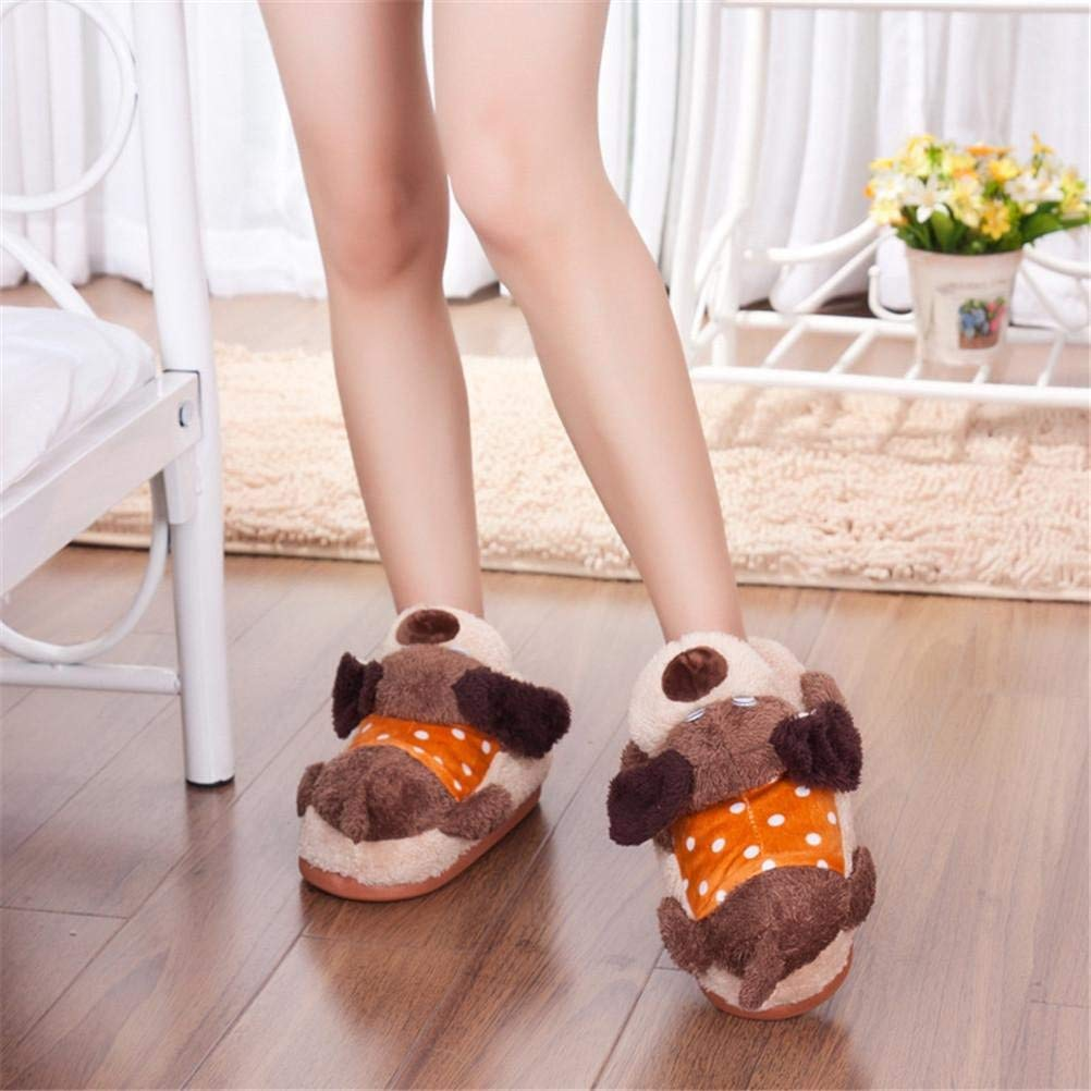 6 JaHGDU Ladies Casual Slippers Papa Bear Cartoon Fashion Indoor Cotton Keep Warm Sandals for Women Pink Brown Slippers