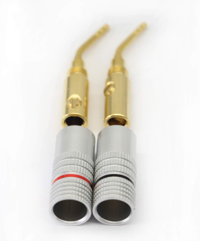 conector de cable de bloqueo de rosca Conectores jack de audio de cobre puro para altavoz conector de cable de altavoz Pantalla L