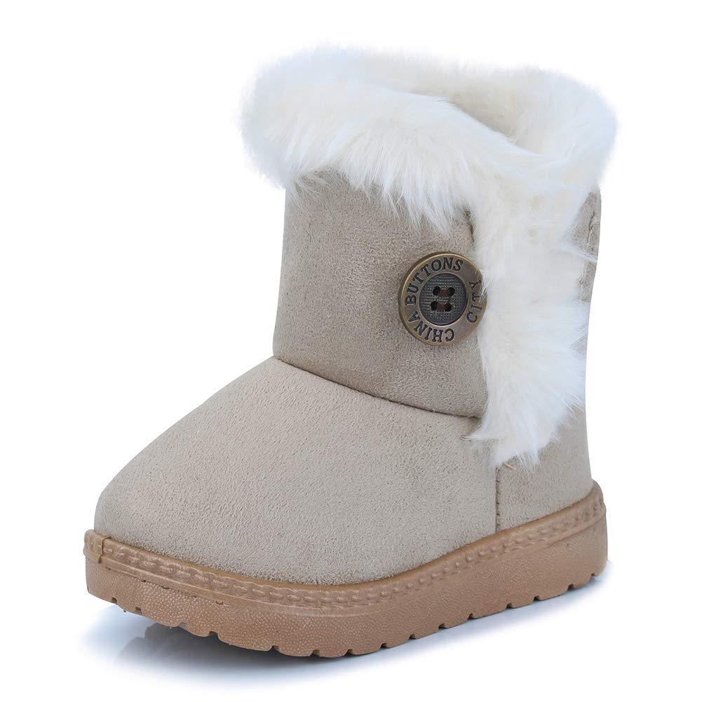 CIOR Toddler Snow Boots Girls Boys Winter Warm Kids Outdoor Shoes