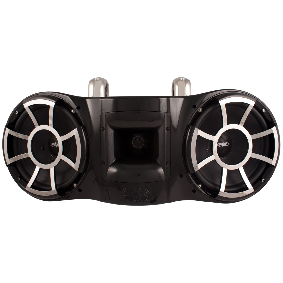 Wet Sounds Revolution Series Dual 10 inch EFG HLCD Tower Speaker - Black w/ Fixed Clamp