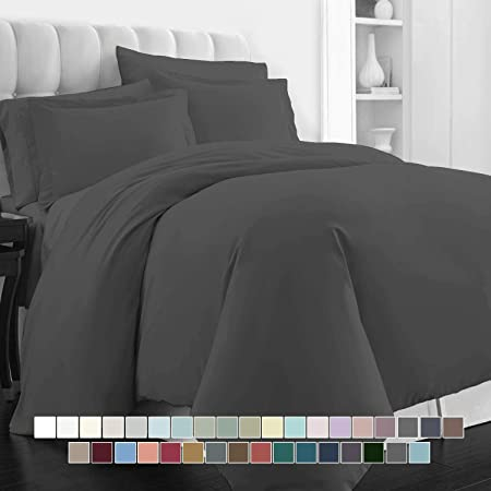 Mayfair Linen 800 Thread Count White King Duvet Cover Set 100/% Long Staple Egyptian Cotton Quilt Cover King//Cal King Size Breathable with Hidden Zipper Closure for Your Down Comforter. Silky Soft