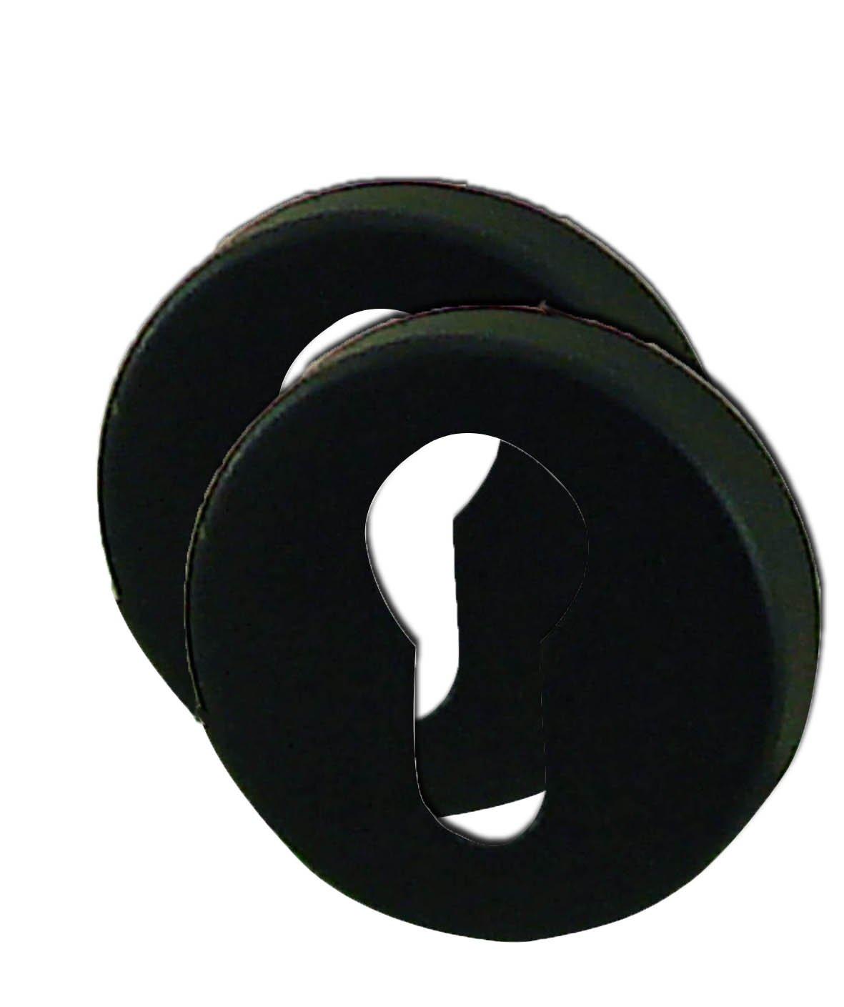 DT 2000 101982 2 Rosaces cluses aluminium Noir mat cylindre