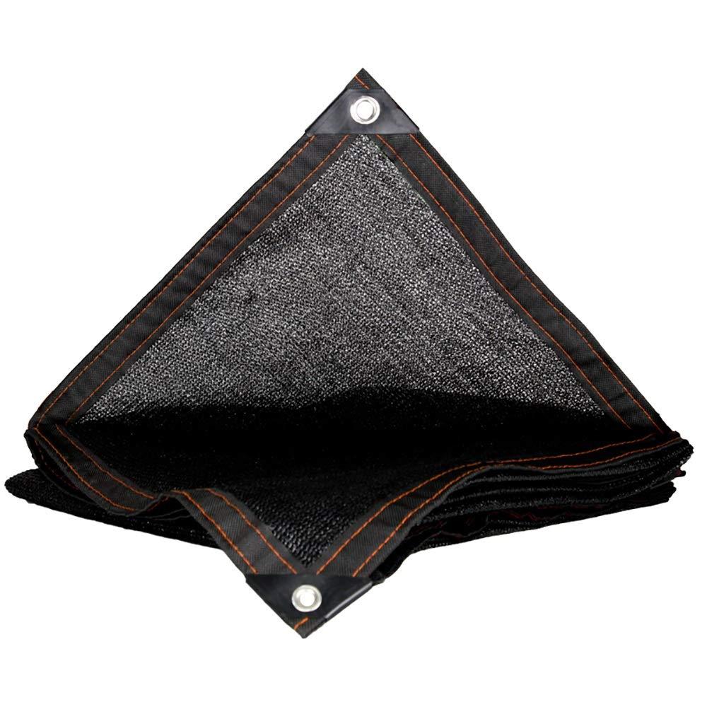 LXLIGHTS アウトドア 日焼け止め 遮光ネット バイザー布 温室シェードネット バルコニーの中庭 絶縁ネット 暗号化 厚くする (Color : Black, Size : 5*10m) B07TYM8MQS Black 5*10m