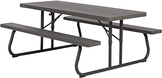 Lifetime Table de pique nique pliante Marron 183 x 76 x 73,7 cm 60112