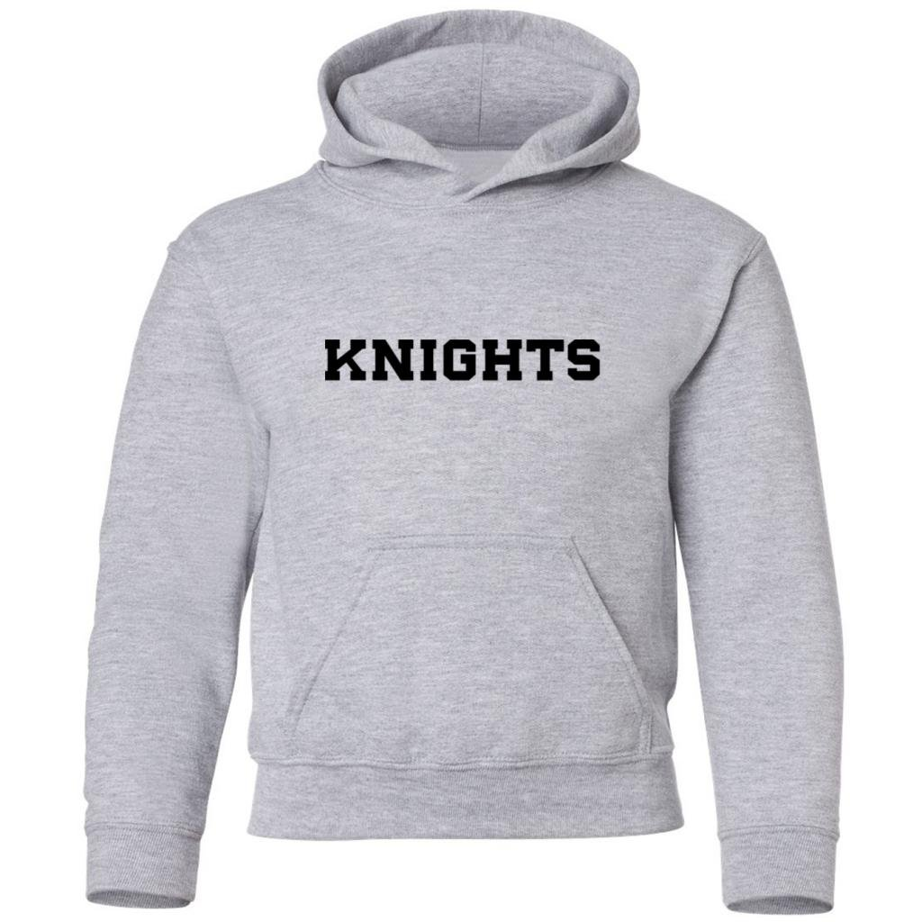 Kids Hooded Sweatshirt Mashed Clothing Big Boys Knights Black Print