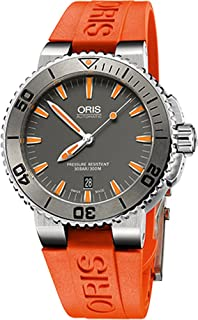 Oris-73376534158RS Aquis Date Mens Watch - Grey Dial Stainless Steel Case  Automatic Movement 01 58a556ee299