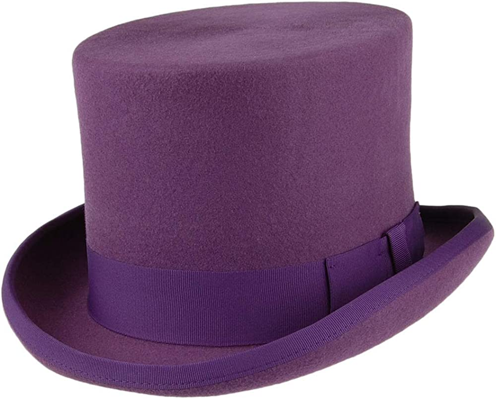 Lila Village Hats Denton Zylinder Hut aus Wollfilz
