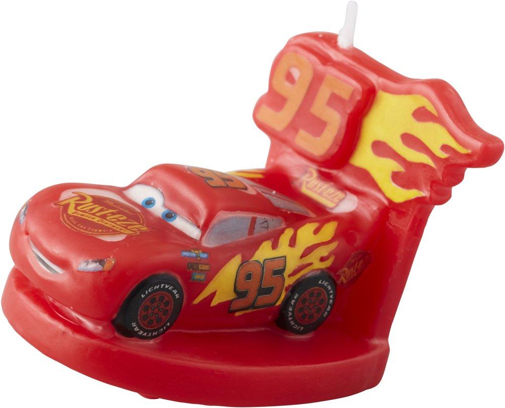 Wilton 2811-7110 3 Disney Pixar Cars 3 Birthday Candle, Assorted