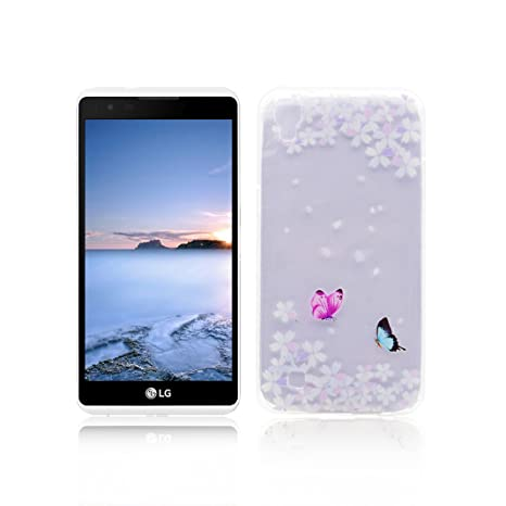 Funda LG X Power Carcasa Protectora OuDu Funda para LG X Power Caso Silicona TPU Funda Suave Soft Silicone Case - Flor de Baile