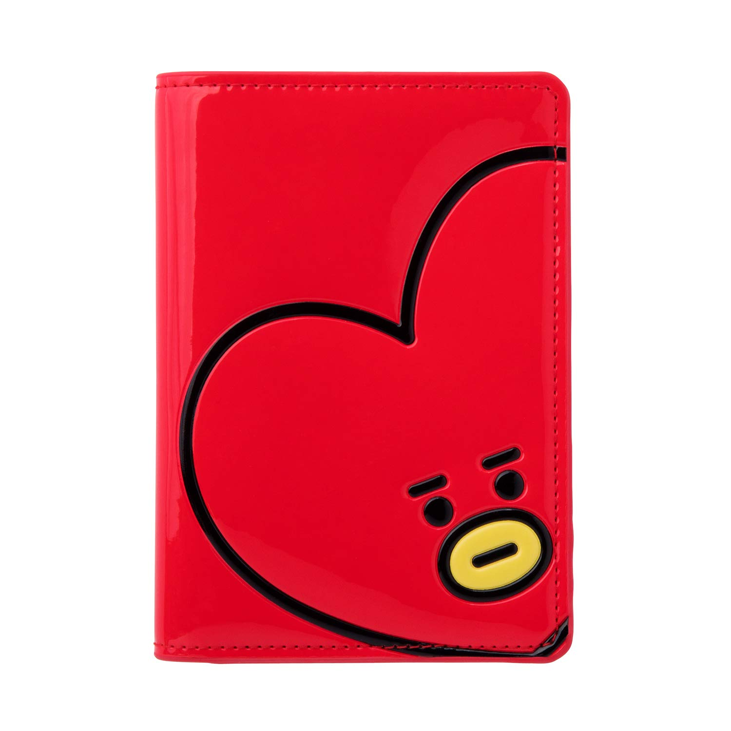 BT21 Official BTS Merchandise by Line Friends - TATA Character Enamel Passport Holder Cover (Designed by Bangtan Boys)
