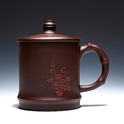 Buena taza Tetera, tazas cubiertos Copa, de la mano del ciruelo Copa púrpura,