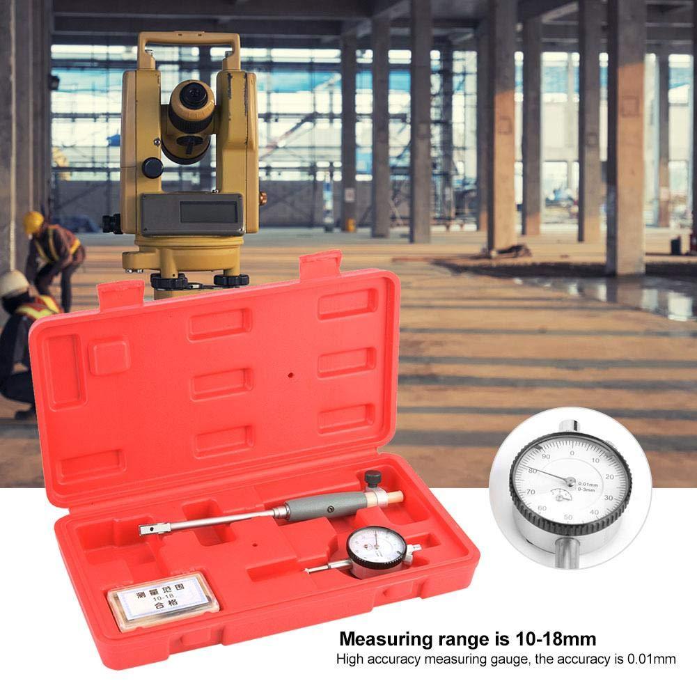 NITRIP Dial Bore Gauge 10-18mm Inner Diameter Indicator Engine Cylinder Measuring Tool 0.01 Accuracy