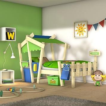 WICKEY Lit enfant CrAzY Candy Lit de jeux 90x200 pour enfant avec ...