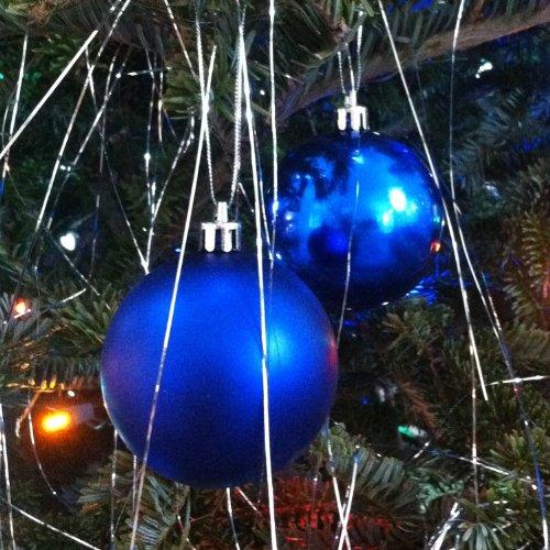 Plastic Shatterproof Ornament Balls, 20ct (Blue Glass Ball Ornament)