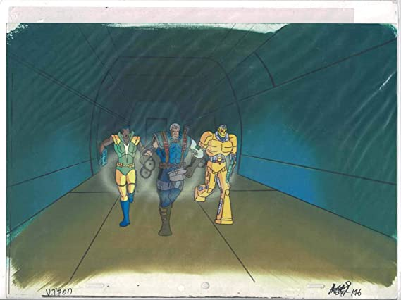 879742a6a40bb X-Men the Animated Series Original Production Animation Cel   Hand Painted  Background at Amazon s Entertainment Collectibles Store