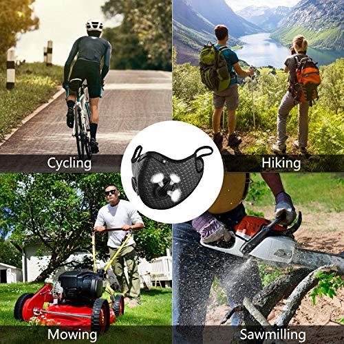 N\\C Antipolvere ???????????????????????????????????????? per Ciclismo, Sportiva Lavabili ???????????????????????????????????????? Anti-inquinamento per Bicicletta(Nero)