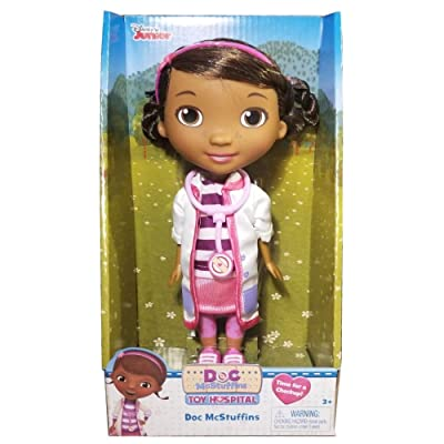 Disney Doc McStuffins Doctor with Stethoscope Doll: Toys & Games